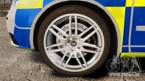 Audi S4 Avant Metropolitan Police [ELS] pour GTA 4 Vue arrière