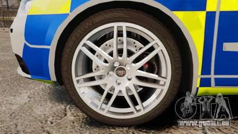 Audi S4 Avant Metropolitan Police [ELS] für GTA 4 Rückansicht