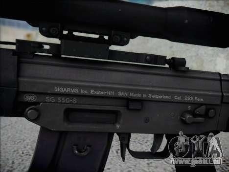 Fusil de sniper HD pour GTA San Andreas troisième écran