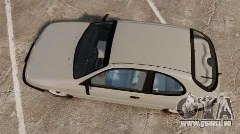 Daewoo Lanos S PL 1997 pour GTA 4 est un droit