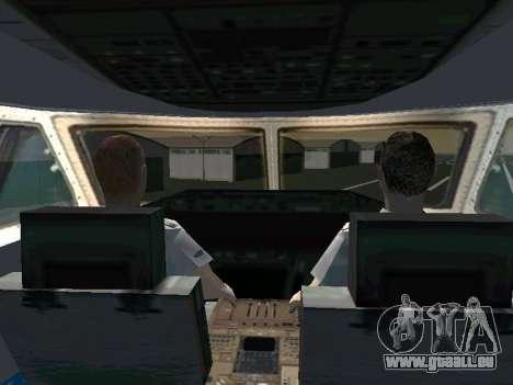Boeing-747 Dream Lifter pour GTA San Andreas sur la vue arrière gauche