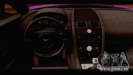 Aston Martin V12 Zagato 2012 [HQLM] pour GTA San Andreas vue de dessous