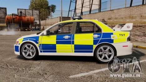 Mitsubishi Lancer Evolution IX Police [ELS] pour GTA 4 est une gauche