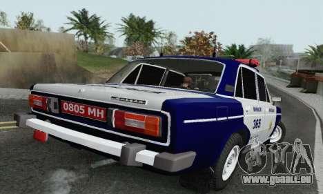 VAZ 2106 Police pour GTA San Andreas sur la vue arrière gauche