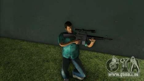M-16 avec un fusil de Sniper GTA Vice City pour la troisième écran