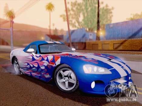 Dodge Viper SRT-10 Coupe für GTA San Andreas Innen