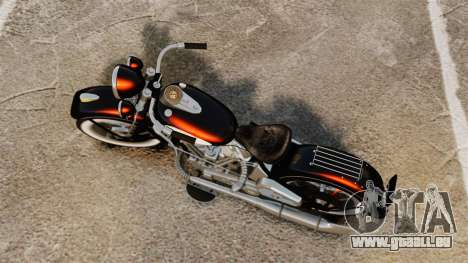 Harley-Davidson Knucklehead 1947 pour GTA 4 Vue arrière de la gauche