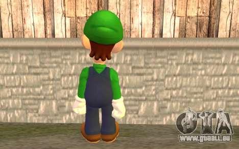 Luigi pour GTA San Andreas deuxième écran