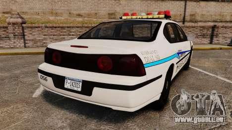 Chevrolet Impala 2003 LCPD pour GTA 4 Vue arrière de la gauche