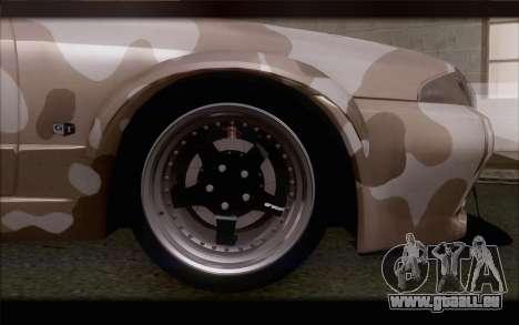 Nissan Skyline GTS Drift Spec für GTA San Andreas zurück linke Ansicht