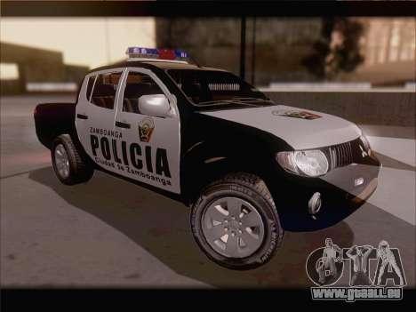 Mitsubishi L200 POLICIA pour GTA San Andreas