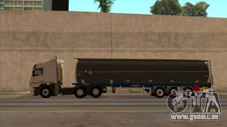 Réservoir SMAT pour GTA San Andreas sur la vue arrière gauche