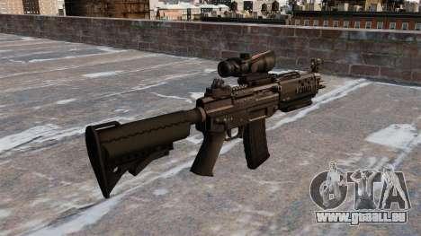 Le fusil d'assaut SIG 552 pour GTA 4 secondes d'écran