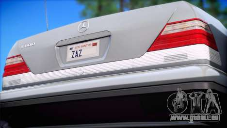 Mercedes-Benz S600 V12 V1.2 pour GTA San Andreas laissé vue
