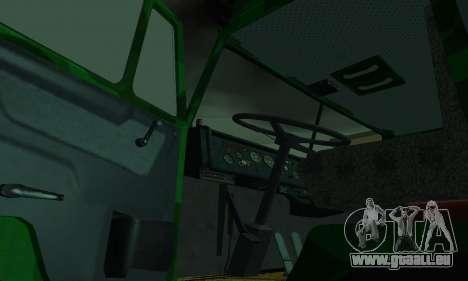 Armée KAMAZ 4310 pour GTA San Andreas vue intérieure
