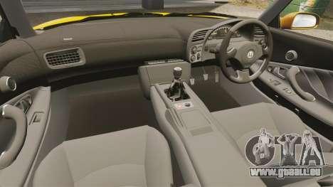 Honda S2000 (AP1) pour GTA 4 est une vue de l'intérieur