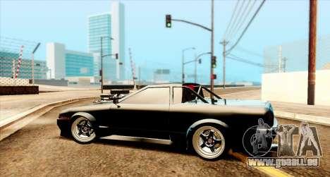 Elegy pickup v2.0 pour GTA San Andreas sur la vue arrière gauche