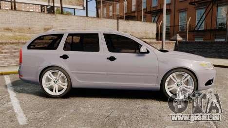 Skoda Octavia RS Unmarked Police [ELS] für GTA 4 linke Ansicht