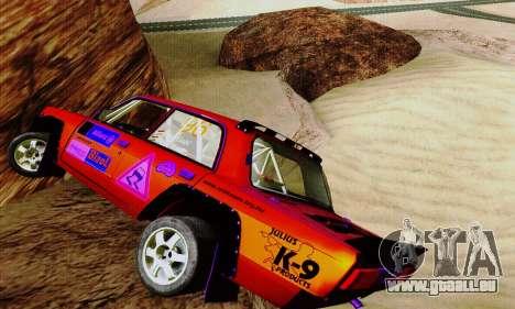 Lada 2105 VFTS pour GTA San Andreas vue intérieure