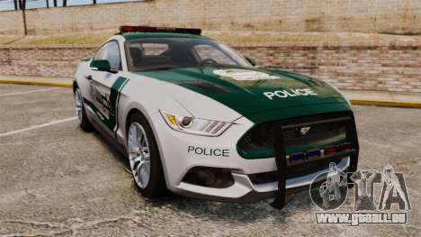 Ford Mustang GT 2015 Police pour GTA 4