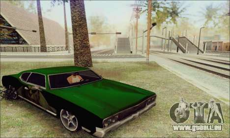 Modified Sabre Low für GTA San Andreas Rückansicht