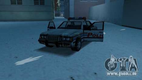 BETA Police Car pour une vue GTA Vice City de l'intérieur