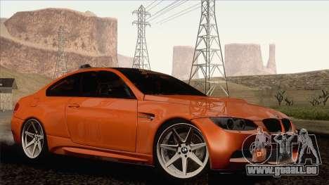 BMW M3 E92 2008 Vossen pour GTA San Andreas laissé vue