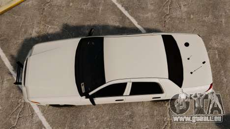 Ford Crown Victoria 1999 Unmarked Police pour GTA 4 est un droit