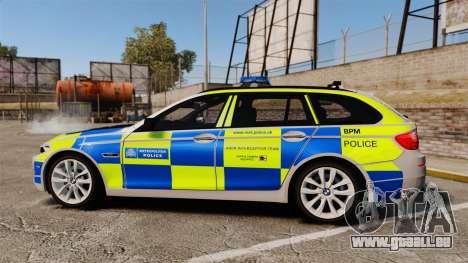 BMW 550d Touring Metropolitan Police [ELS] für GTA 4 linke Ansicht
