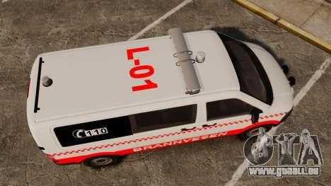 Volkswagen Transporter T5 2010 [ELS] für GTA 4 rechte Ansicht