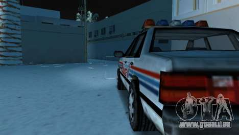 BETA Police Car pour une vue GTA Vice City de la droite