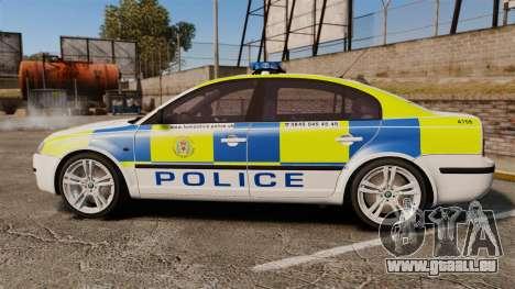 Skoda Superb 2006 Police [ELS] Whelen Edge pour GTA 4 est une gauche