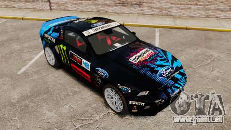 Ford Mustang GT 2013 Widebody NFS Edition pour GTA 4 vue de dessus