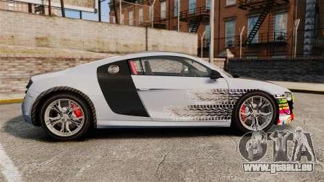 Audi R8 GT Coupe 2011 Drift pour GTA 4 est une gauche