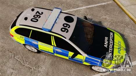 BMW 550d Touring Metropolitan Police [ELS] für GTA 4 rechte Ansicht
