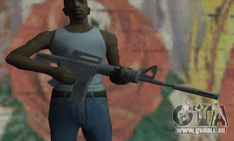 M4A1 de Saints Row 2 pour GTA San Andreas troisième écran