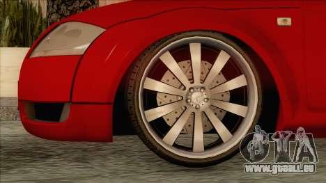 Audi TT 1.8T pour GTA San Andreas sur la vue arrière gauche