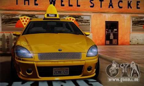 Declasse Premier Taxi für GTA San Andreas Rückansicht