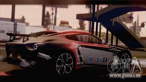 Aston Martin V12 Zagato 2012 [HQLM] pour GTA San Andreas sur la vue arrière gauche