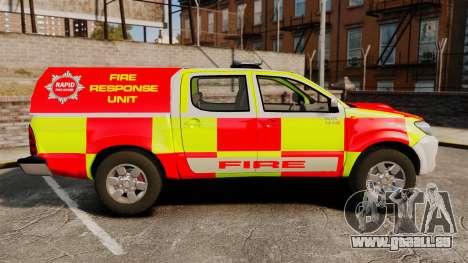 Toyota Hilux British Rapid Fire Cover [ELS] pour GTA 4 est une gauche