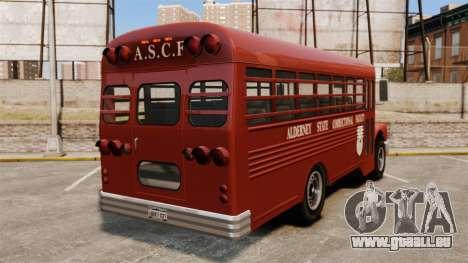 GTA IV TLAD Prison Bus pour GTA 4 Vue arrière de la gauche