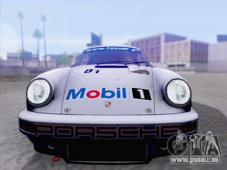 Porsche 911 RSR 3.3 skinpack 1 für GTA San Andreas zurück linke Ansicht