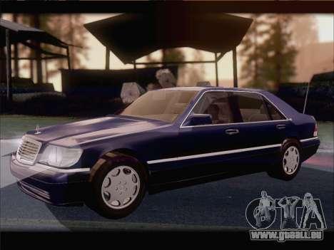 Mercedes-Benz S600 V12 V1.2 pour GTA San Andreas vue arrière