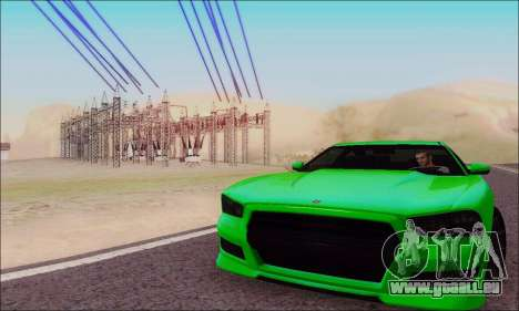 Buffalo de GTA V pour GTA San Andreas vue de côté