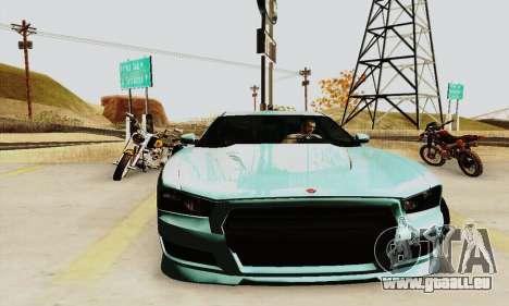 Buffalo de GTA V pour GTA San Andreas vue arrière