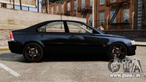 Volvo S60R Unmarked Police [ELS] pour GTA 4 est une gauche