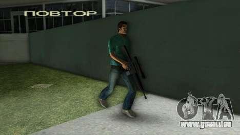 M-16 avec un fusil de Sniper pour le quatrième écran GTA Vice City