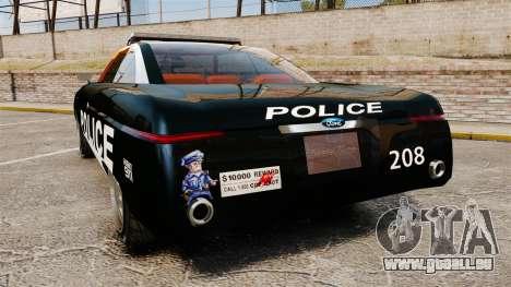 Ford Forty Nine Concept 2001 Police [ELS] pour GTA 4 Vue arrière de la gauche