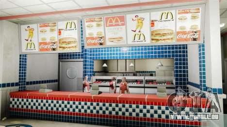 Manger McDonald ' s et Taco Bell pour GTA 4 troisième écran