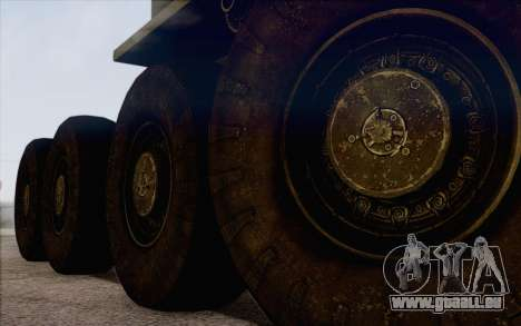 535 Militaires MAZ pour GTA San Andreas sur la vue arrière gauche